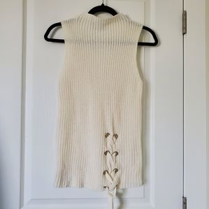 🌵DEVOTED Knit Sleeveless Ivory Top Sz. Small